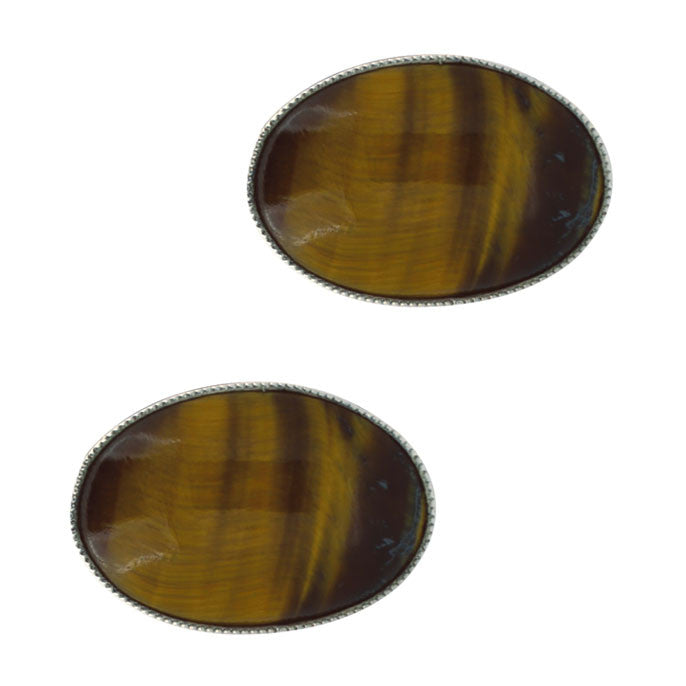 Tiger Eye Cuff Links