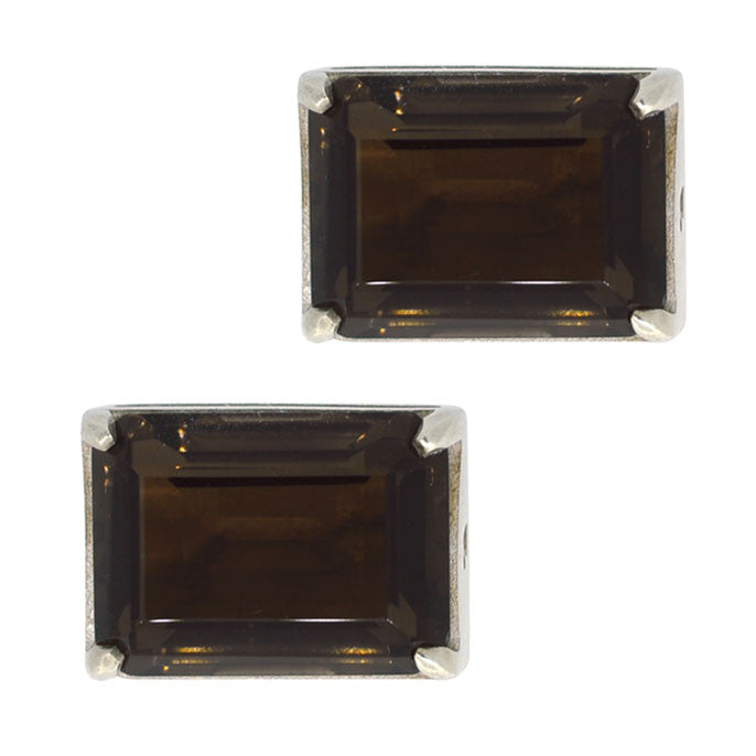 smoky quartz cufflinks