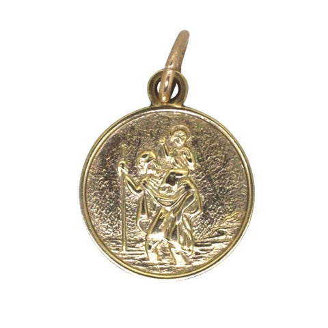Gold St Christopher Pendant