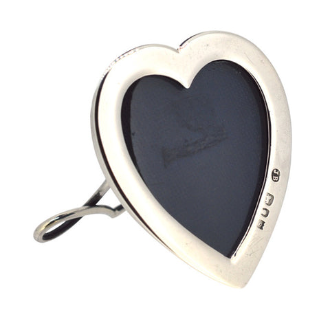 Silver Heart Shaped Picture Frame