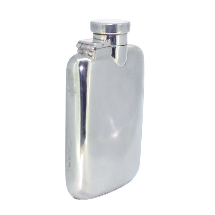 1920s silver hip flask