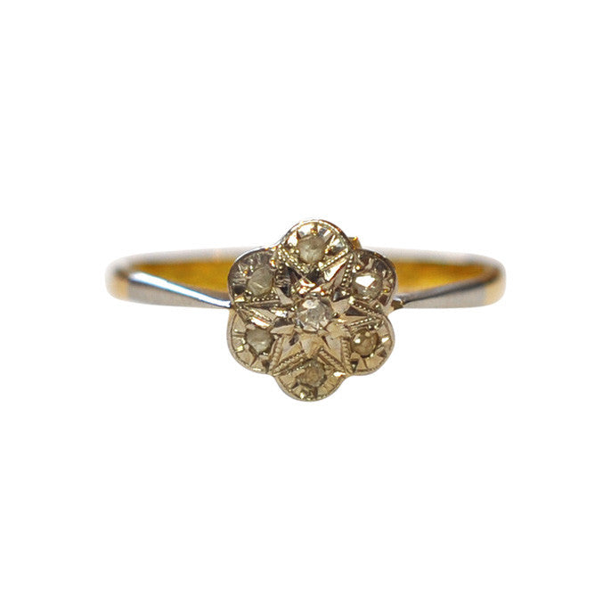 antique daisy ring