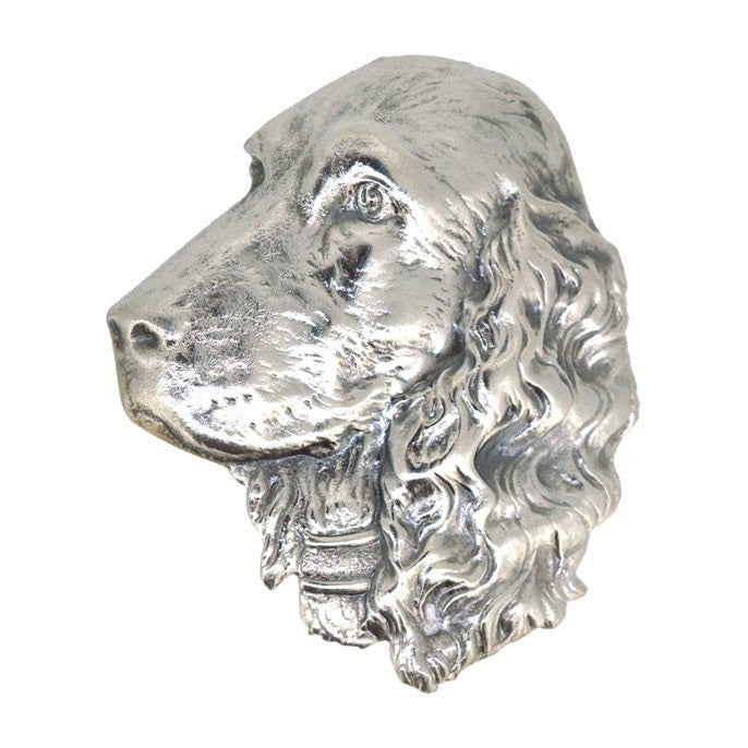 Silver Dog Head Brooch