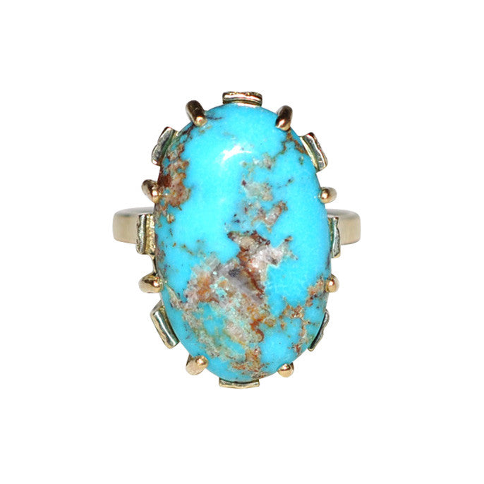 Turquoise Dress Ring
