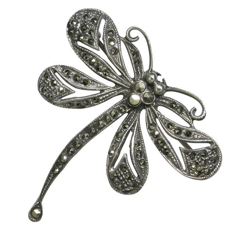 Marcasite Dragonfly Brooch
