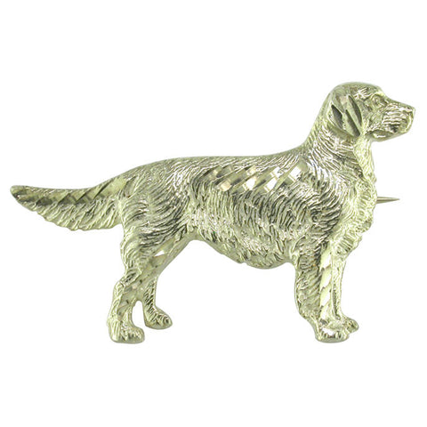 Retreiver Dog Brooch