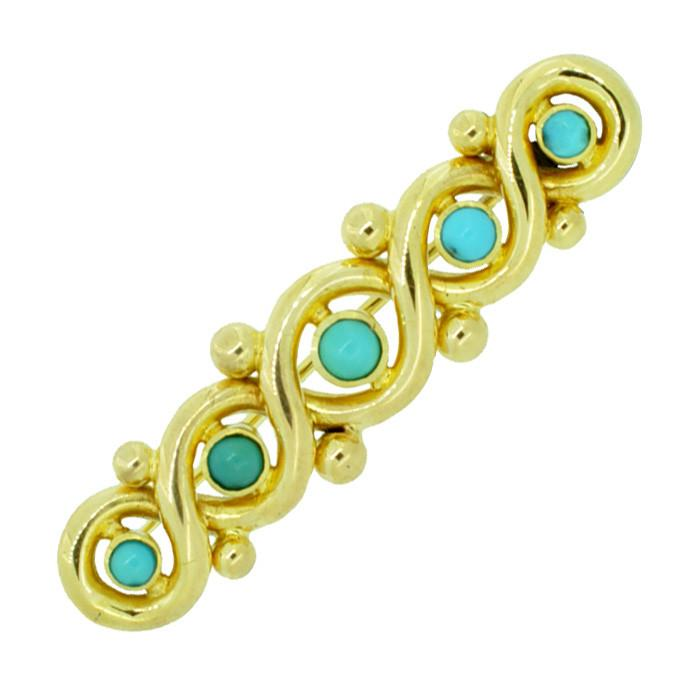 Turquoise Bar Brooch