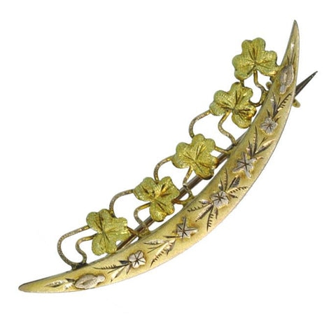 Crescent Bar Brooch
