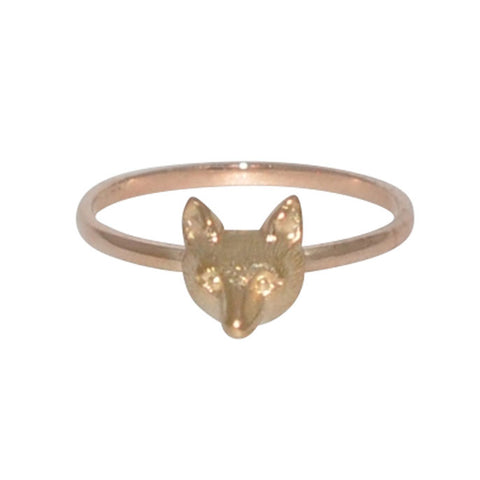 Fox Head Ring