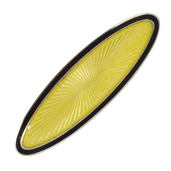 Yellow Enamel Brooch