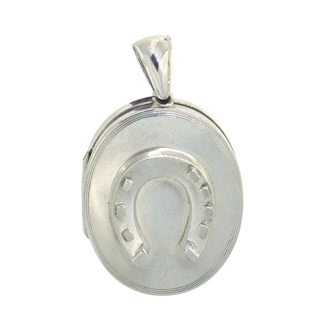 Horse Shoe Silver Locket