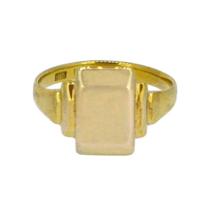 vintage gold signet ring