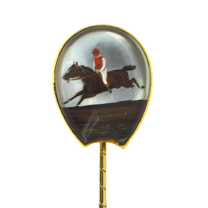 Essex Crystal Racehorse Tie Pin