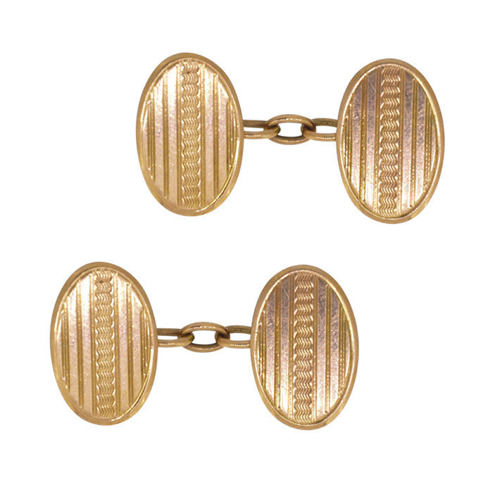 vintage rose gold cufflinks