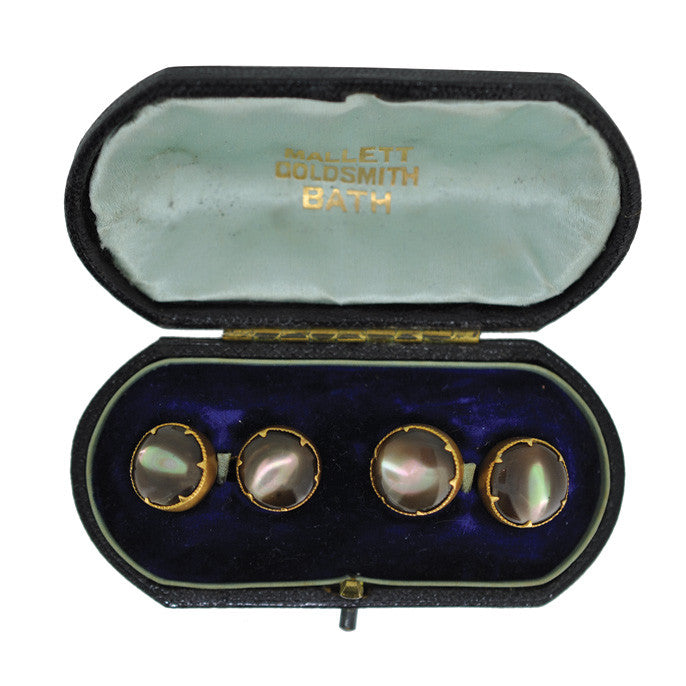 antique shell cuff links