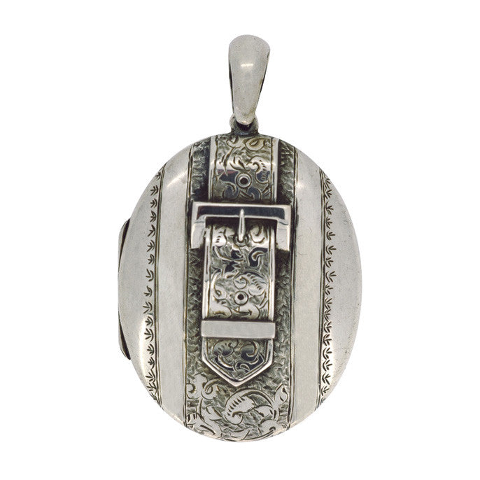 antique silver locket