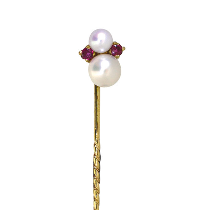 Pearl & Ruby Tie Pin