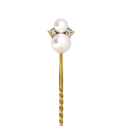 Pearl & Diamond Tie Pin
