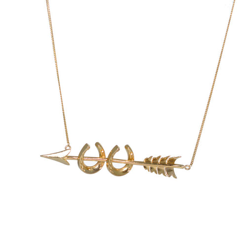Arrow Horse Shoe Necklace