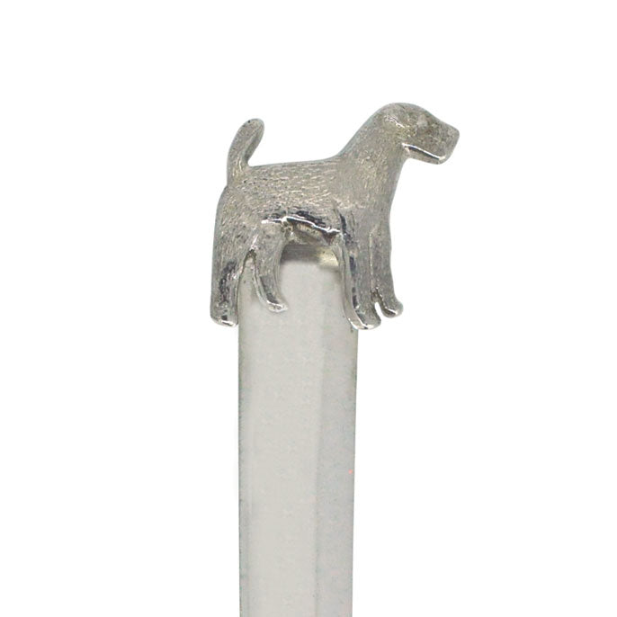 Silver Dog Paper Knife