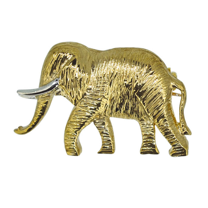 gold elephant brooch
