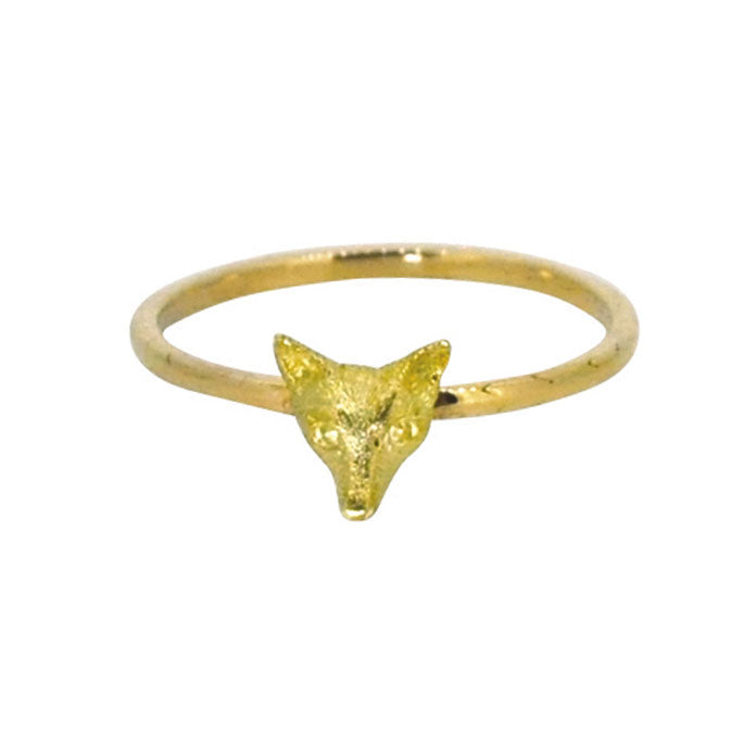 vintage fox head ring
