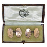 rose gold vintage cuff links