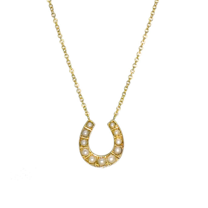 Pearl Horse Shoe Necklace