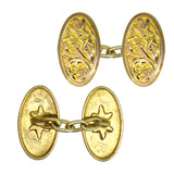 Oval Gold Cuff Links