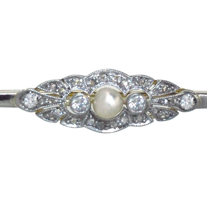 Diamond & Pearl Brooch