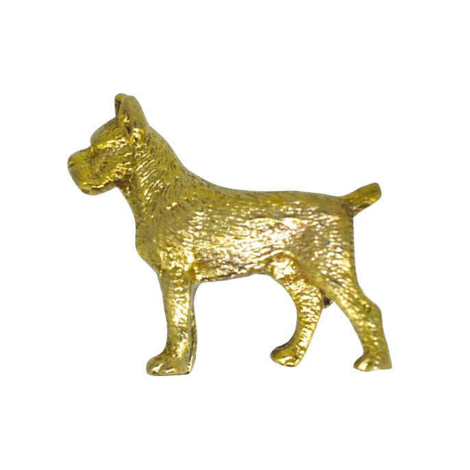 vintage dog brooch