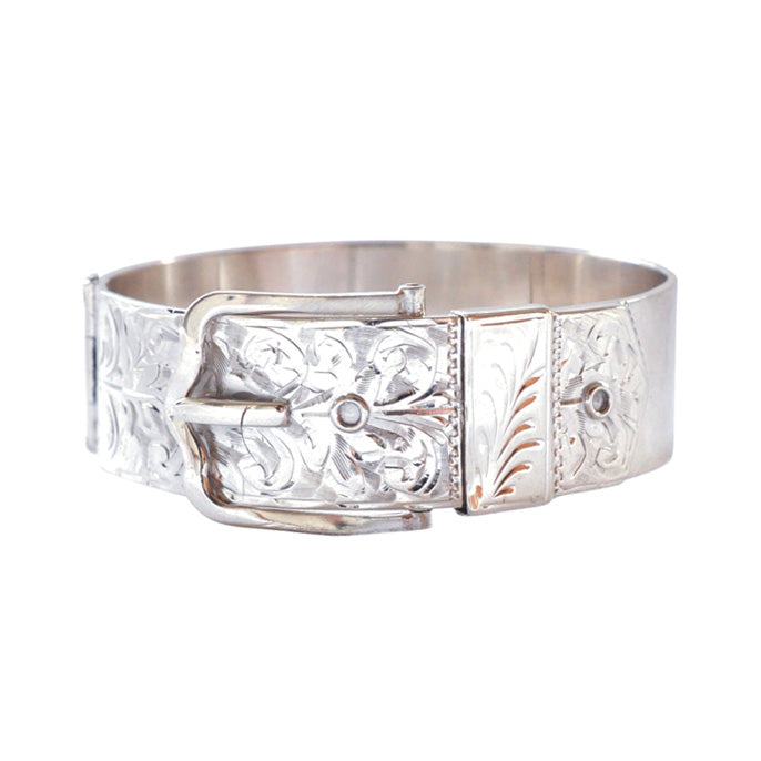 silver buckle bangle