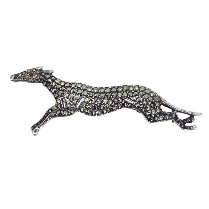 Marcasite Greyhound Brooch
