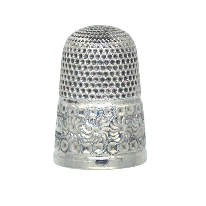 antique silver thimble