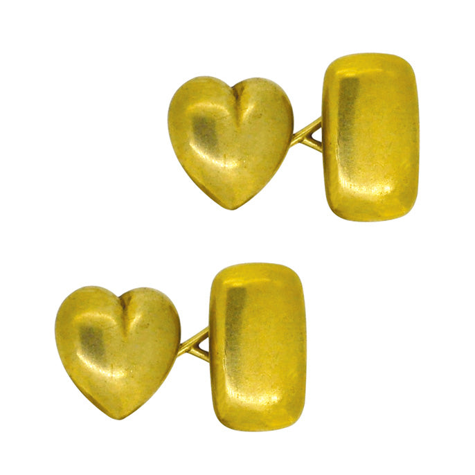antique heart cufflinks