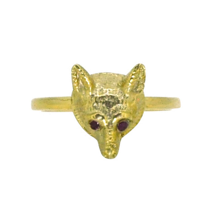 vintage gold fox ring