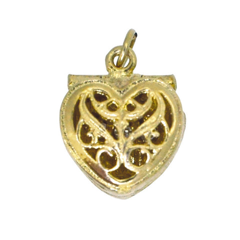 Heart Shaped Ring Box Charm