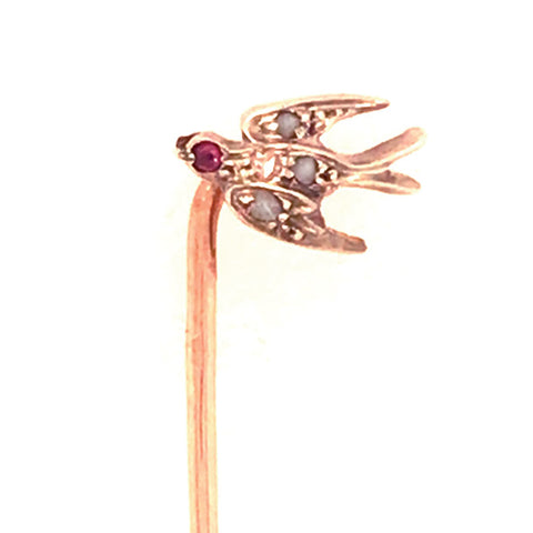 Diamond Bird Stick Pin