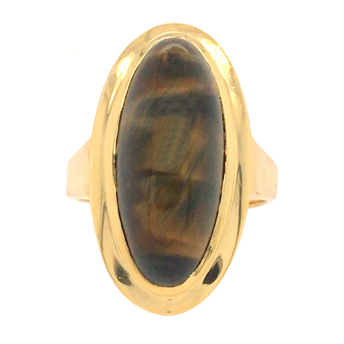 vintage tigers eye ring