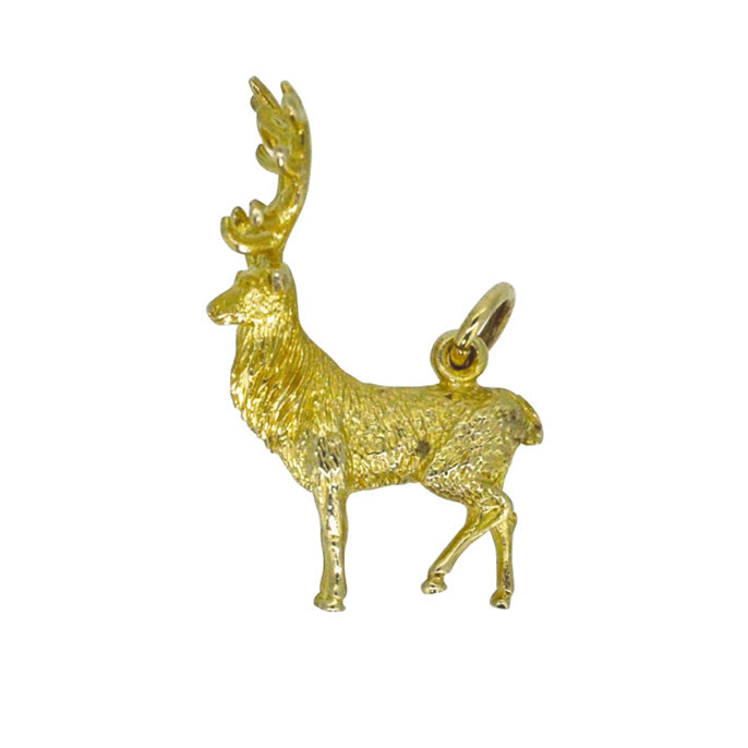 gold stag charm