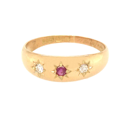 Diamond & Ruby Gypsy Ring
