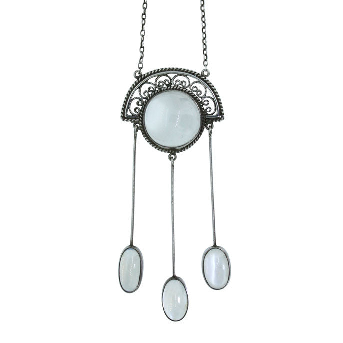 Arts & Crafts Moonstone Necklace
