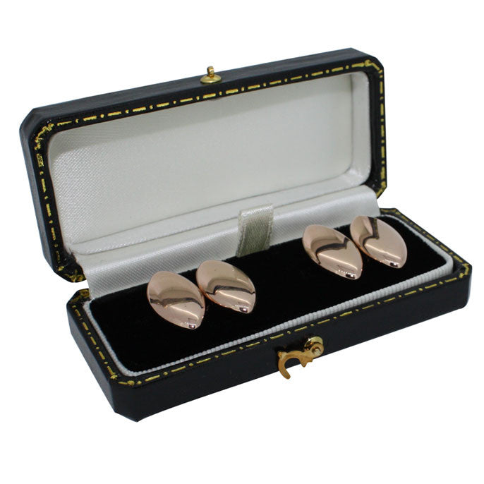 Hallmarked Rose Gold Cufflinks