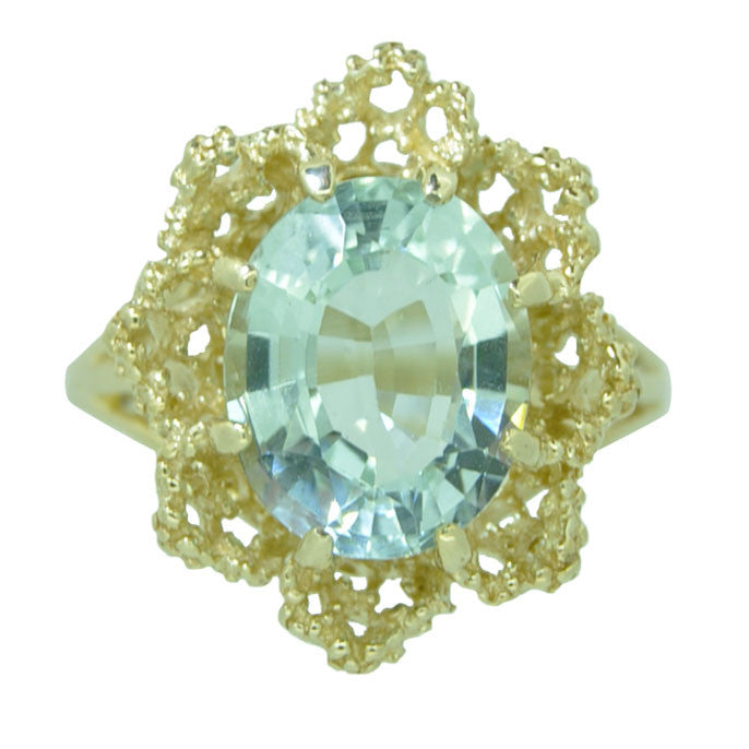 Vintage Aquamarine Cocktail Ring