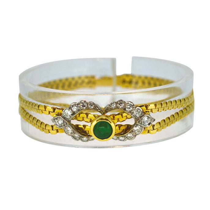 Diamond & Emerald Gold Bracelet