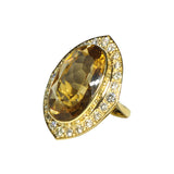 Citrine & Diamond Cocktail Ring