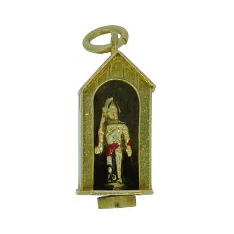 Queens Guard Gold Charm