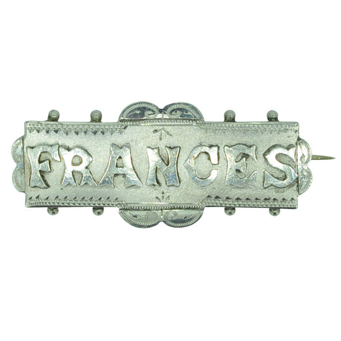 Frances Name Brooch