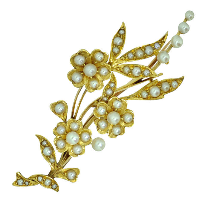 Pearl Spray Brooch
