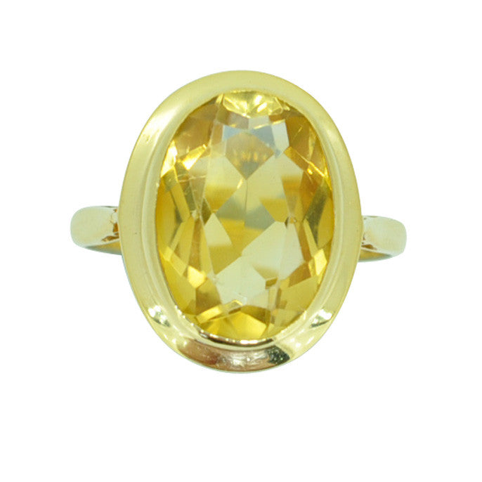 Vintage Citrine Dress Ring